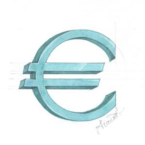 Drawing of the euro symbol