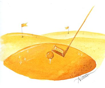 Golf course made of gold